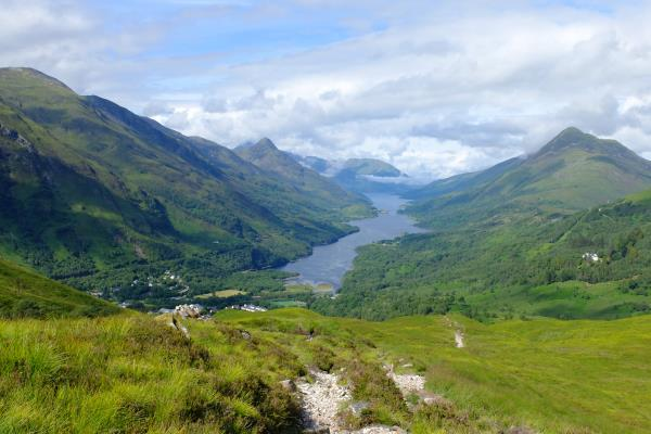 Photo of View along Loch Leven with Kinlochleven in foreground