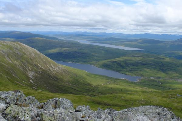 Photo of Loch Eilde Mor with Black Water Reservoir in background
