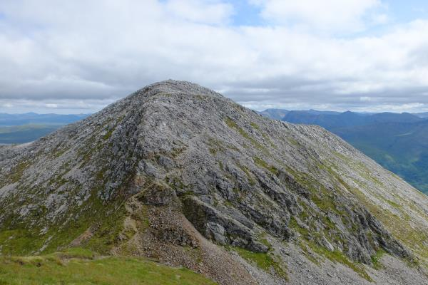 Photo of Looking back at Na Gruagaichean from its 1,036 metre flat top