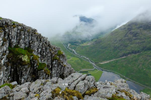 Photo of Looking down into Glen Coe from Aonach Dubh
