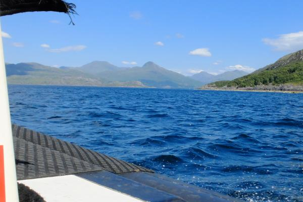 Photo of Initial view of Knoydart from ferry