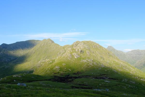 Photo of Start of next days route along Aonach Sgoilte leading to Stob a' Chearcaill