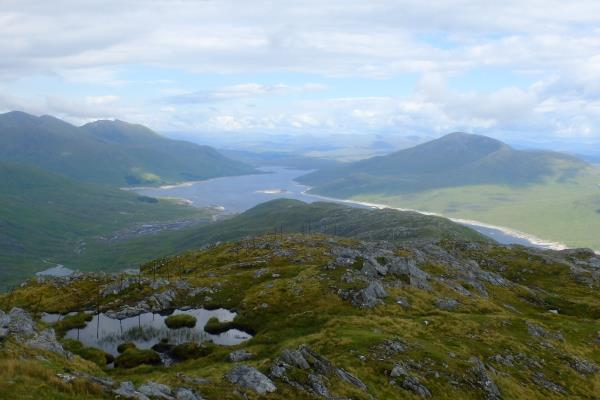 Photo of A look east at Loch Quoich before turning back