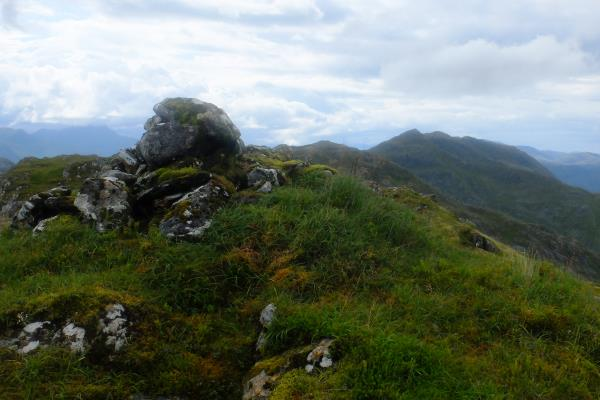 Photo of Top of Sgurr a' Chlaidheimh, looking back at route