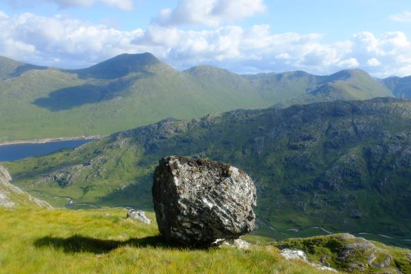 Photo of Rock on upper slope of Sgurr a' Chlaidheimh