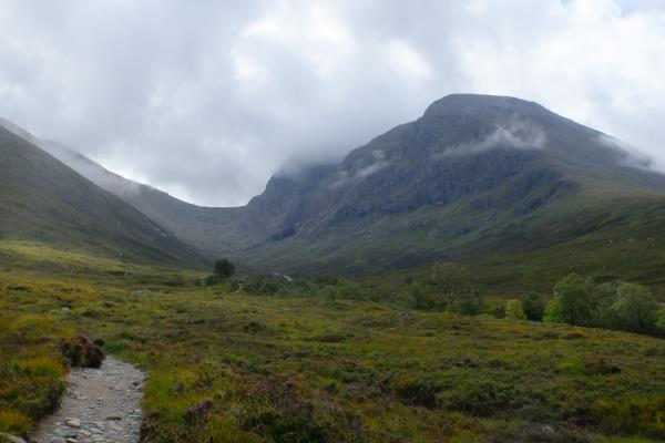 Photo of Initial view of Ben Nevis and arete to left