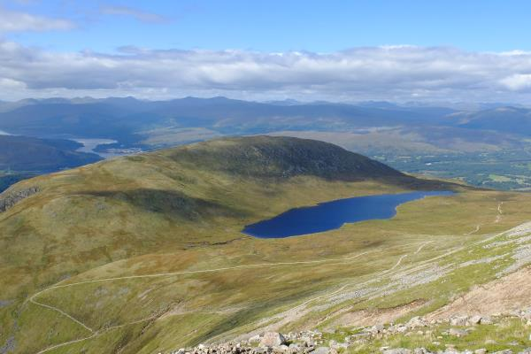 Photo of Half way lochan with Meall an t-Suidhe to left