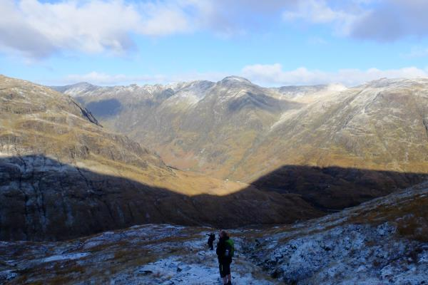 Photo of Looking at Aonach Eagach whilst ascending