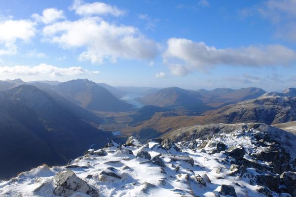 Photo of Looking down Glen Etive from Stob Dubh with Loch Etive in distance