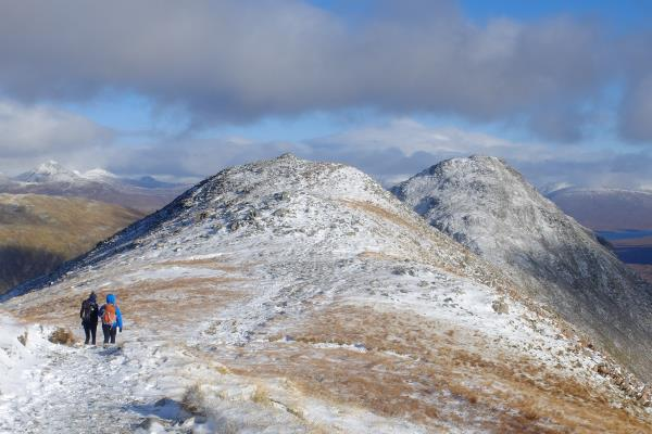 Photo of Heading back after descending Stob Dubh