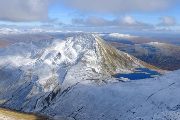 Photo of Looking down on Sgurr Eilde Mor and Coire an Lochain