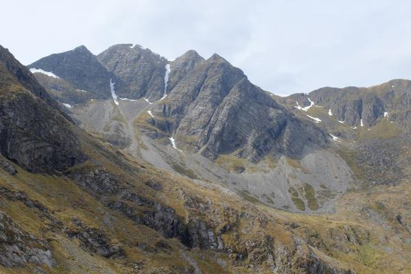 Photo of Stob Ban coming into view