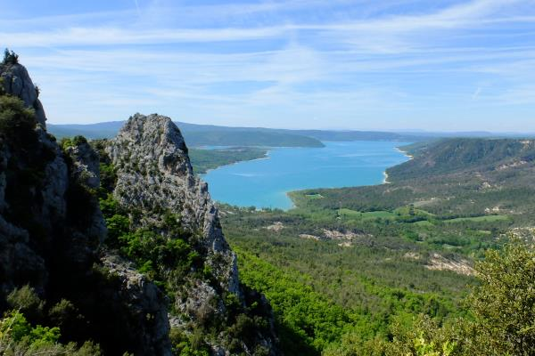Photo of Overlooking Lac de Sainte-Croix from Crete de l'Ourbes