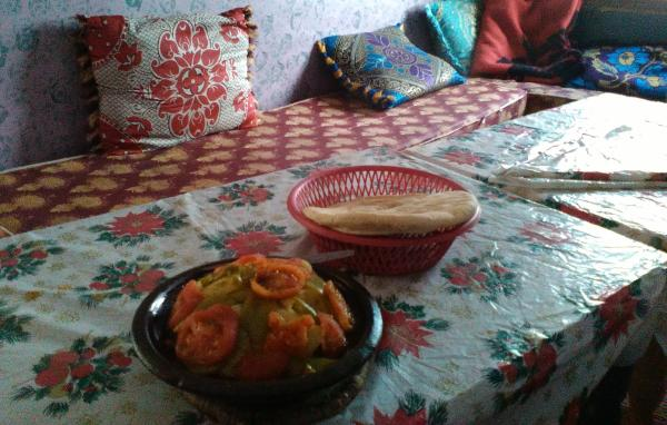 Photo of Evening meal of tagine and bread
