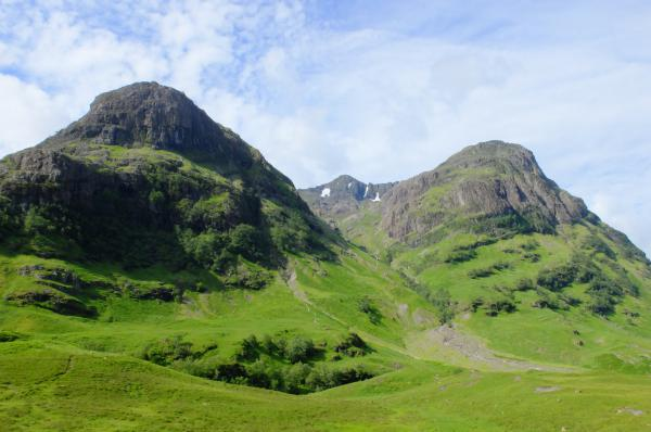 Photo of View from near road side, Gearr Aonach on left, Aonach Dubh right