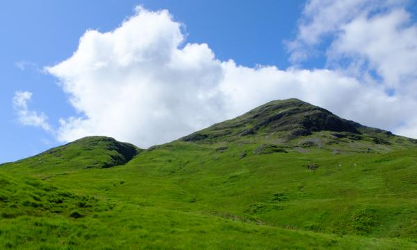 Photo of Looking back at Meall nan Gobhar with Meall a' Chreamha on left