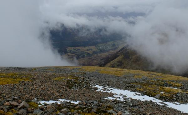 Photo of Mist clearing to reveal Glen Nevis