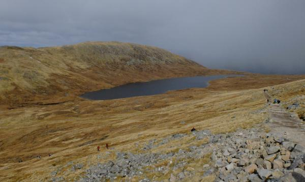Photo of Mist coming into half way lochan, Lochan Meall an t-Suidhe