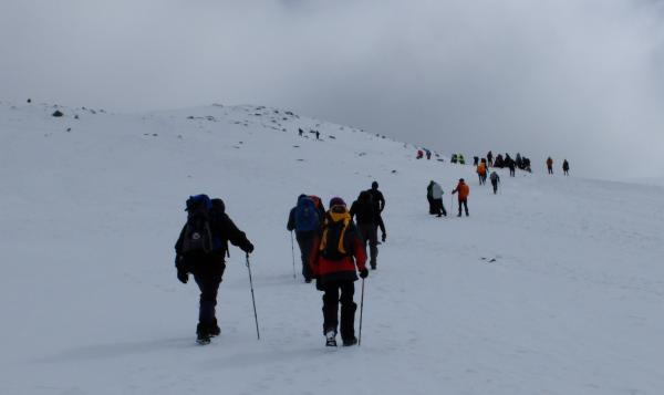 Photo of Heading towards 1,200m navigation cairn
