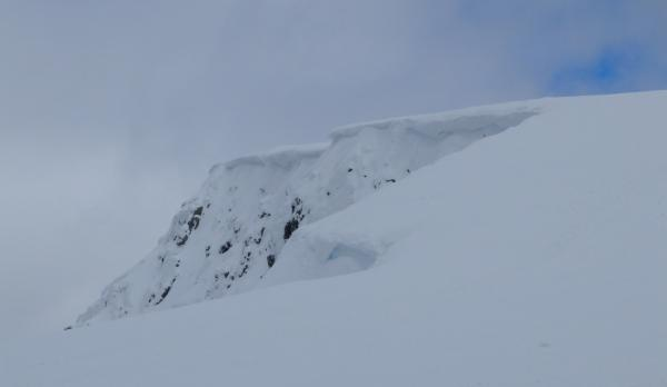 Photo of Cornices on the north face of Ben Nevis