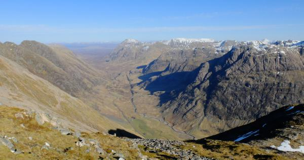 Photo of Looking down to Glen Coe