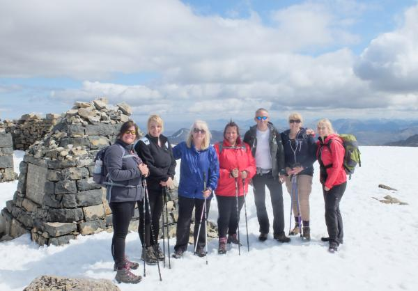 Photo of Group and myself at top of Ben Nevis