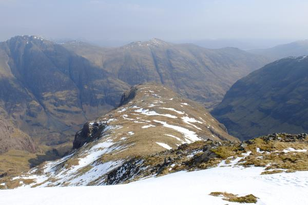 Photo of Looking back  above Gearr Aonach