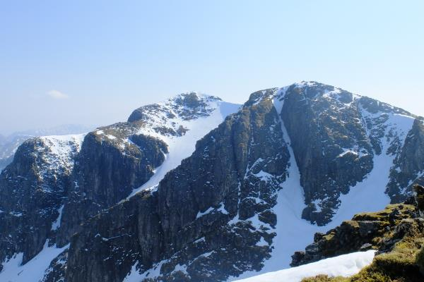 Photo of Looking back to Bidean nam Bian in centre
