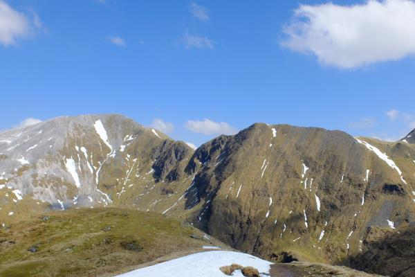 Photo of Devils Ridge leading to Sgurr a' Mhaim on left