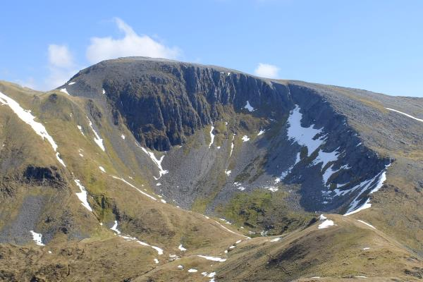 Photo of Sgurr an Lubhair seen from the bealach