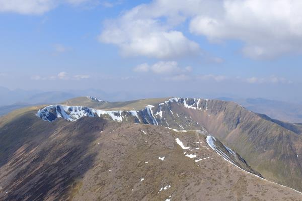 Photo of Looking west from top of Stob Ban to Mullach nan Coirean