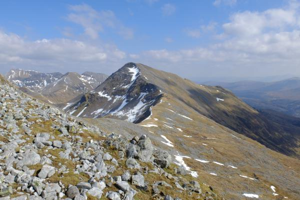 Photo of View of Am Bodach ascending Sgurr an Iubhair