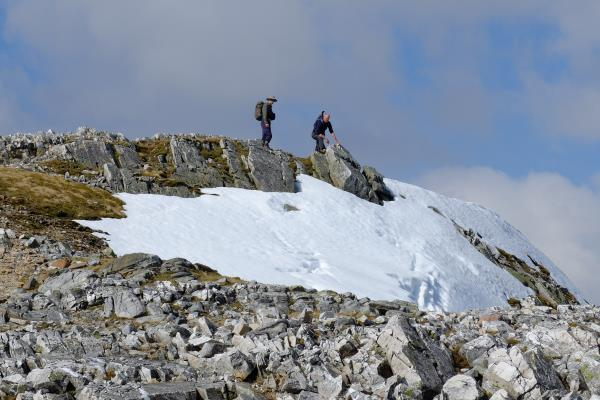 Photo of Looking at snow at top of Sgurr an Lubhair