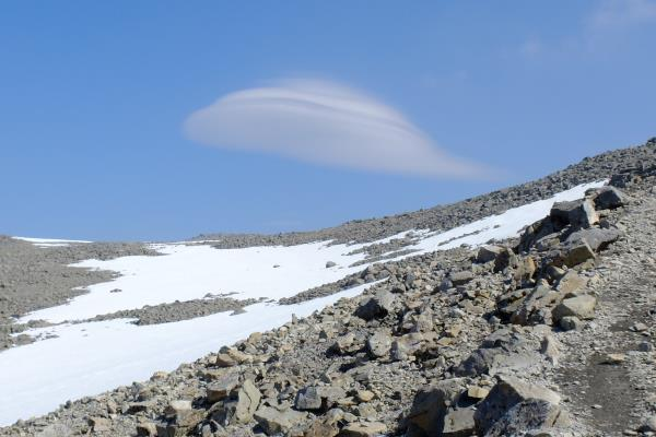 Photo of View of lenticular cloud whilst ascending
