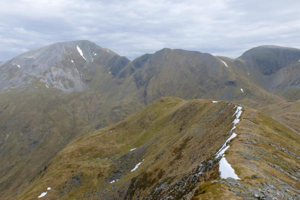 Photo of View along ridge descending from Stob Ban