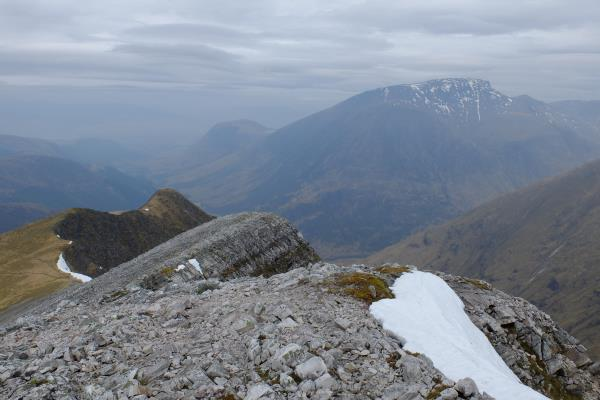 Photo of View from top of Stob Ban with Ben Nevis in distance