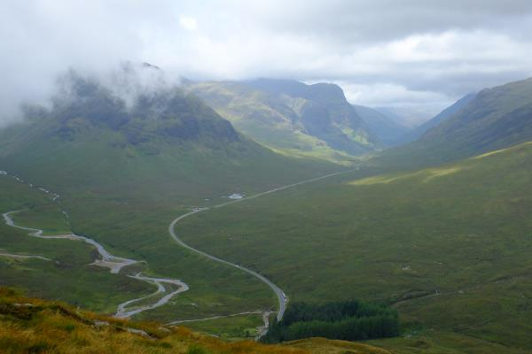 Photo of Initial view of Glen Coe after ascending from Altnafeadh