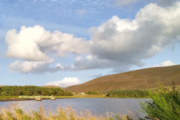 Photo of Harlaw Reservoir with Black Hill