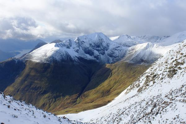 Photo of Looking over to Am Bodach whilst descending Na Gruagaichean