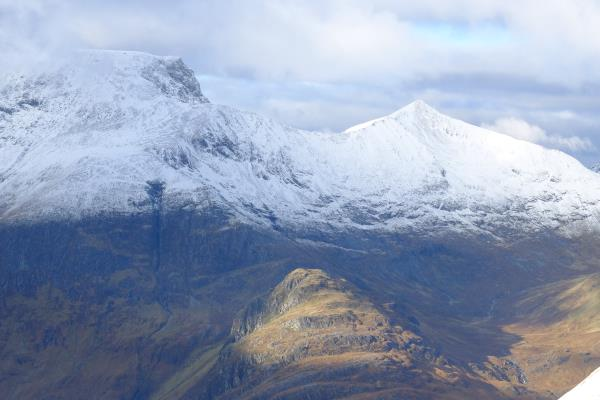 Photo of Ben Nevis on left with CMD arete to Carn Mor Dearg