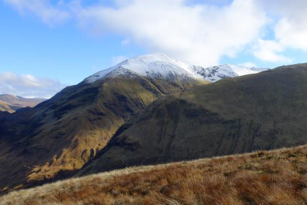 Photo of Sgurr a' Mhaim at start of walk