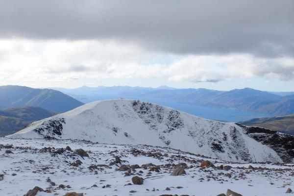 Photo of Looking over to Meall a' Chaorainn from Mullach nan Coirean