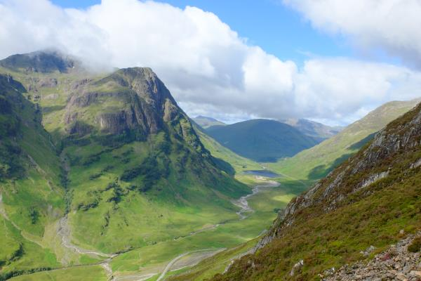 Photo of View along Glen Coe whilst ascending Am Bodach