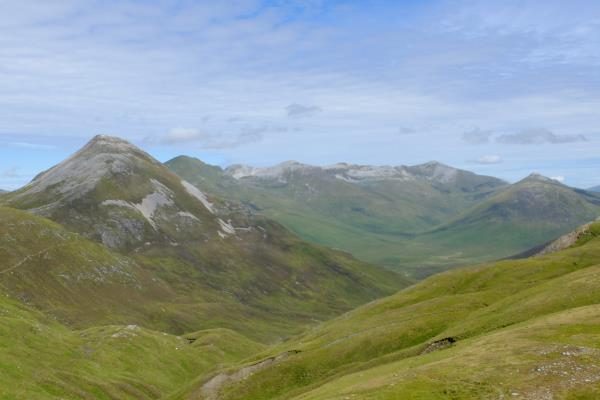 Photo of Binnein Beag on left and Grey Corries to right