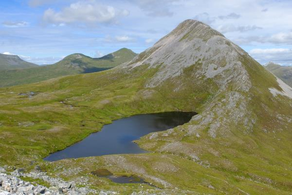 Photo of Looking back to Binnein Beag after starting ascent to Binnein Mor