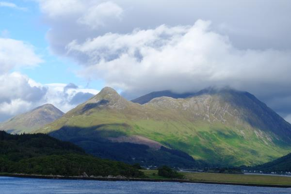 Photo of Pointed Pap of Glencoe (Sgorr na Ciche) in sunlight
