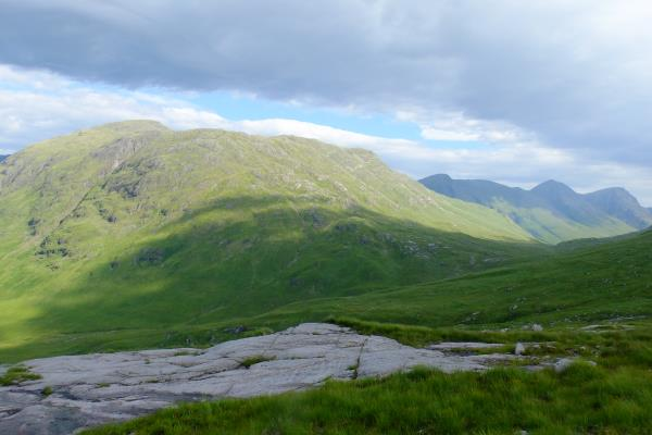 Photo of Stob Dubh with Buachaille Etive Mor to right