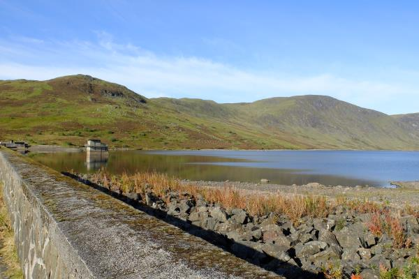 Photo of Looking along Loch Turret Reservoir dam