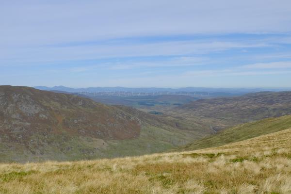 Photo of The rolling landscape north east from Meall Tarsuinn