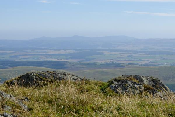 Photo of East Lomond and West Lomond hills in the far distance